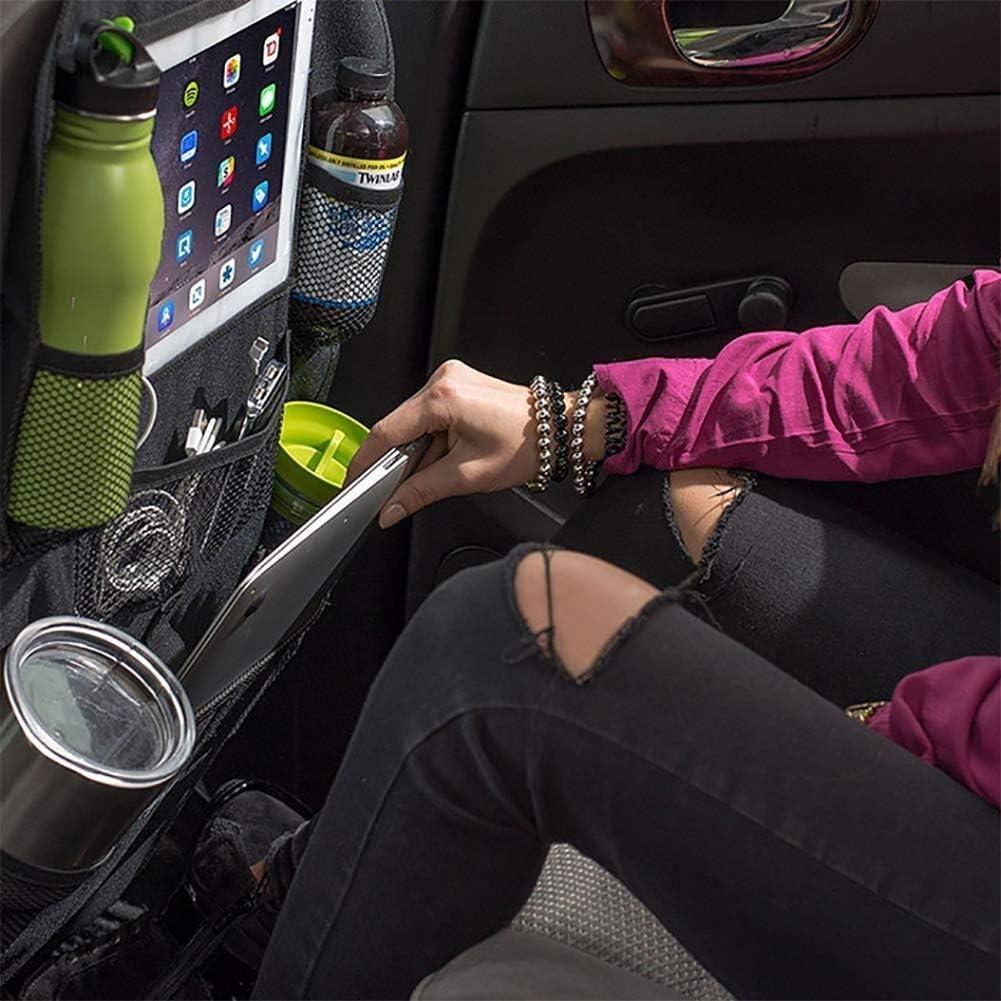 Grande capacit/é Organisateur de si/ège arri/ère for voiture for enfant Utilis/é comme protection du do Housse de protection avec support for tablette /à /écran tactile de 10pour bouton dalimentation