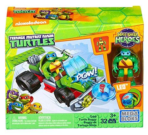 Mega Construx Teenage Mutant Ninja Turtles Half-Shell Heroes Leo Turtle Buggy -