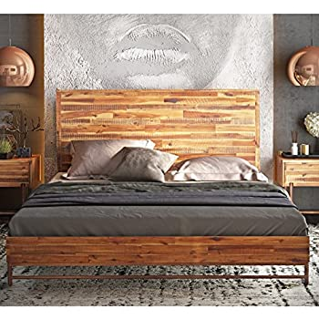 Amazon Com Tov Furniture Bushwick Collection Acacia Wood