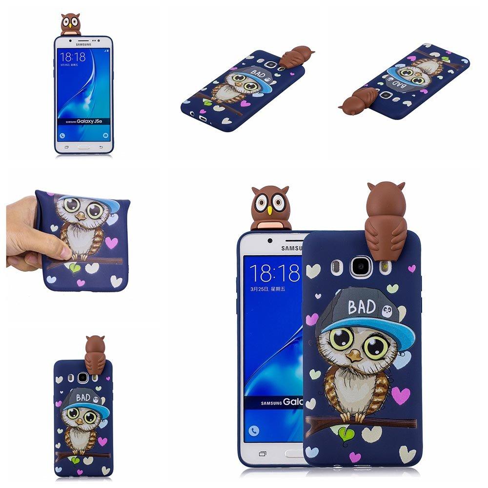 BENKER Custodia Cover Galaxy J7 2016 Nuovo Ultra Sottile TPU Silicone Anti-graffio Anti-urto 3D Cartone Animato Telefono Caso Unicorn Non Dissolvenza