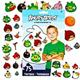 Angry Birds Temporary Tattoos Party Favor Set (75 Temporary Tattoos)