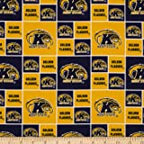 Kent State Flashers Cotton Fabric By The Yard