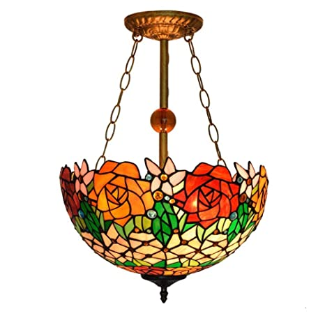 Lámparas colgantes de vidrio tintado retro estilo araña de ...