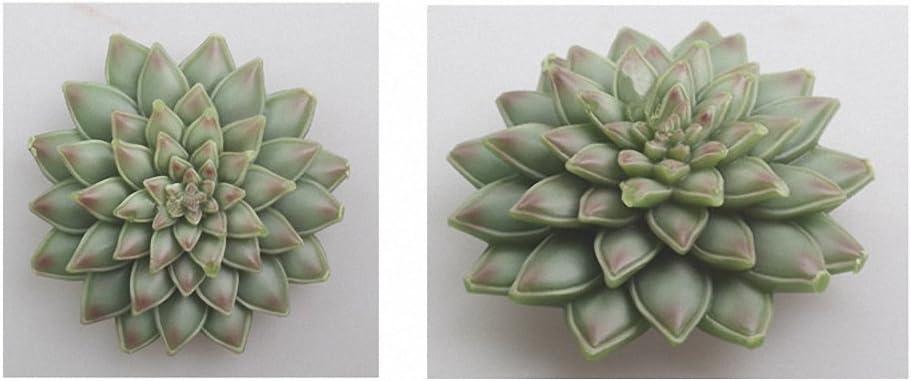 SPRK 28 Estilos 1PCS Plantas suculentas Vela del Molde del silic/ón Cactus Resina Magdalena del Chocolate Az/úcar Yeso de Arcilla del Molde C390