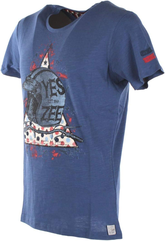 Yes Zee T-Shirt Uomo S Blu T759 Tl08 Primavera Estate 2019