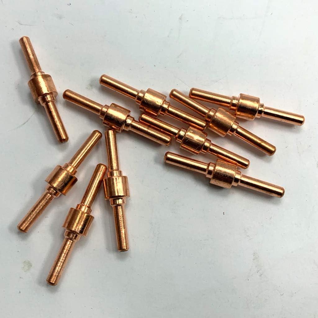 40mm Milageto 10x /électrode De Coupeur De Adapt/ée Pour La De Coupe 40A Plus Longue PT-31 Durable 30
