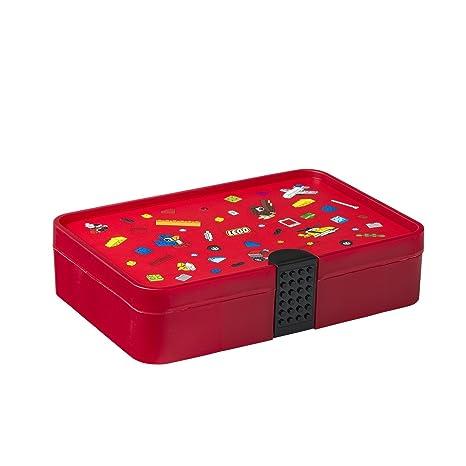 LEGO Iconic-Caja clasificadora, Color Rojo Brillante, Talla única