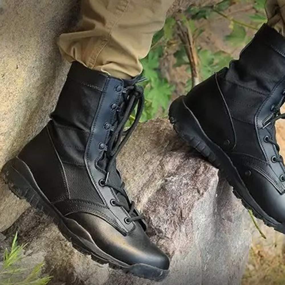 DSFGHE Herrenstiefel Tactical Militär-Patrouillenstiefel Atmungsaktive, Leichte Leichte Leichte Sicherheitsstiefel 343ab2
