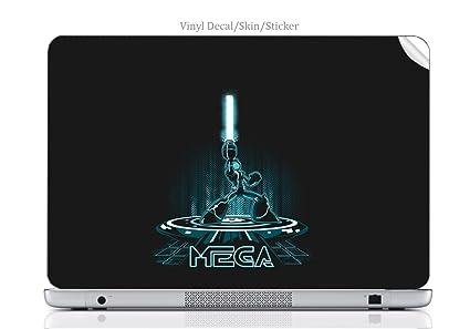 Amazon com: Laptop VINYL DECAL Sticker Skin Print Mega Man Tron