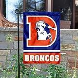 Denver Broncos Throwback Logo Double Sided Garden Flag