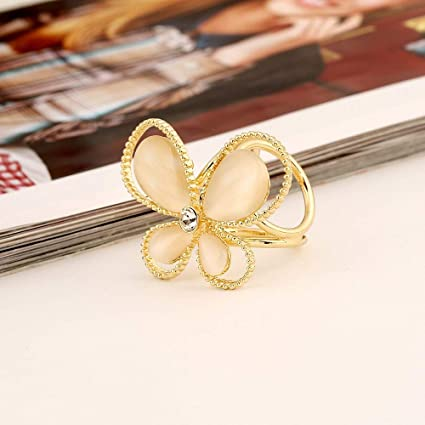 b333d69d0 Amazon.com: DHmart 1PC Women's Golden Butterfly Brooch Rhinestone ...