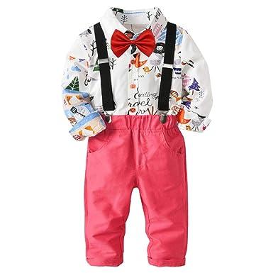 Deylaying Bebé Chicos Caballero Traje de Trajes - Rosa Pantalones ...