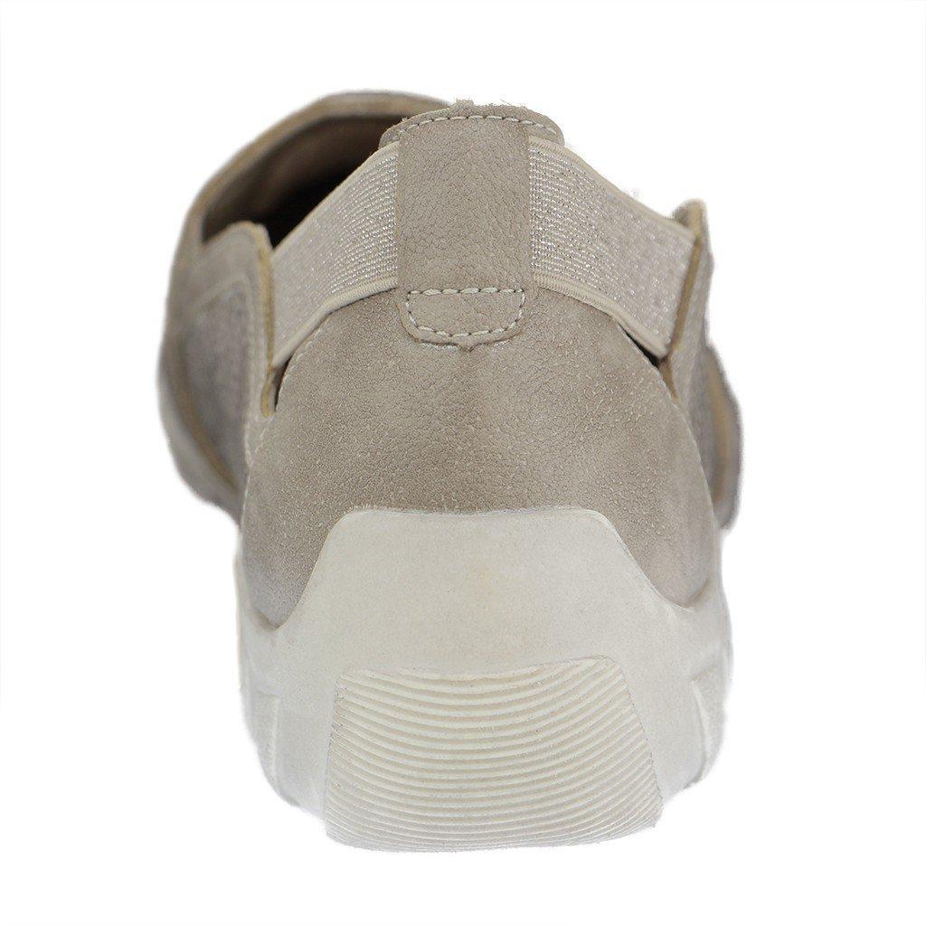 Remonte - Damen Slipper - Schuhe Silber Schuhe - in Übergrößen - cdeafd