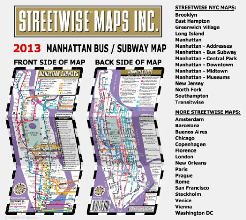 Streetwise Manhattan Bus Subway Map Laminated Subway Map of New