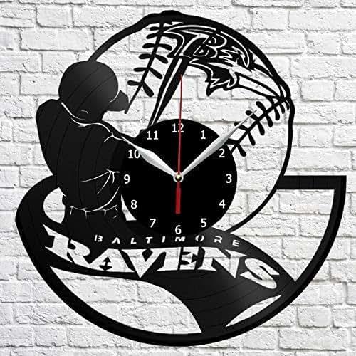 Baltimore Ravens Home Decor: Amazon.com: Baltimore Ravens Art Vinyl Record Wall Clock