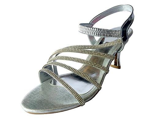 Style n Step Bridal Shoes-Scarpe da donna, stile etnico Salwar Juttis Mojari-Spille da balia, Argento (argento), 39