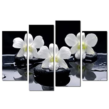 Orchid Flowers Oil Painting HD Print Home Wall Decor Art on Canvas Unframed