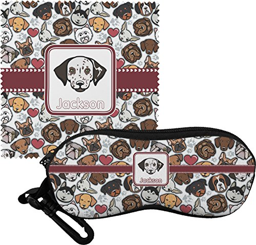 Dog Faces Personalized Eyeglass Case & Cloth