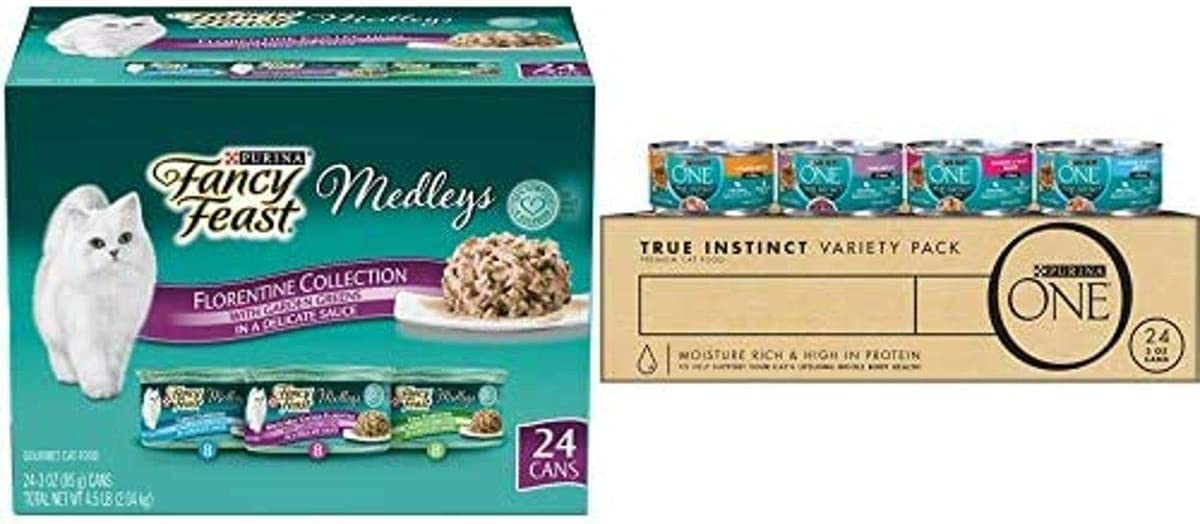 Purina ONE True Instinct High Protein, Natural Wet Cat Food in Sauce or Gravy - (24) 3 oz. Cans