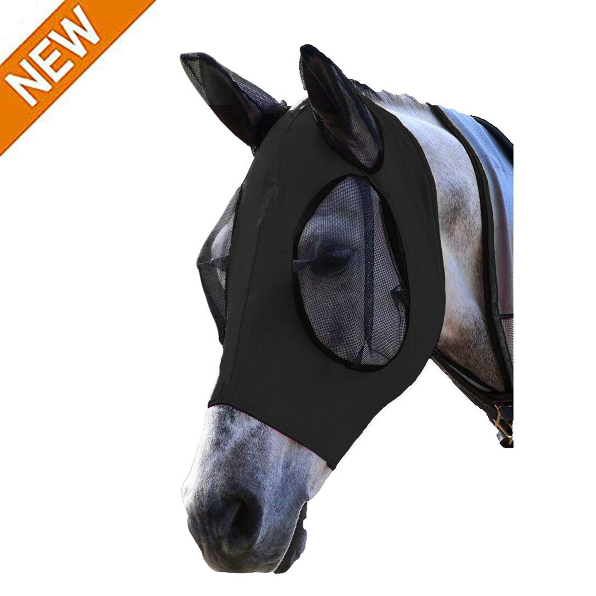 HC_DIY Fit Horse and Arab Size Lycra Professional Comfort Fly Mask-Gray by HC_DIY