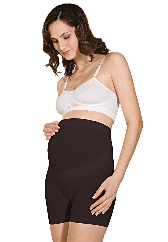 RelaxMaternity 5120 Pantalon corto de algodon premamámoldeador con faja de soporte abdominal para embarazadas RelaxMaternity 5120 (Blanco ISHORTSPRERM/CONF_0220014