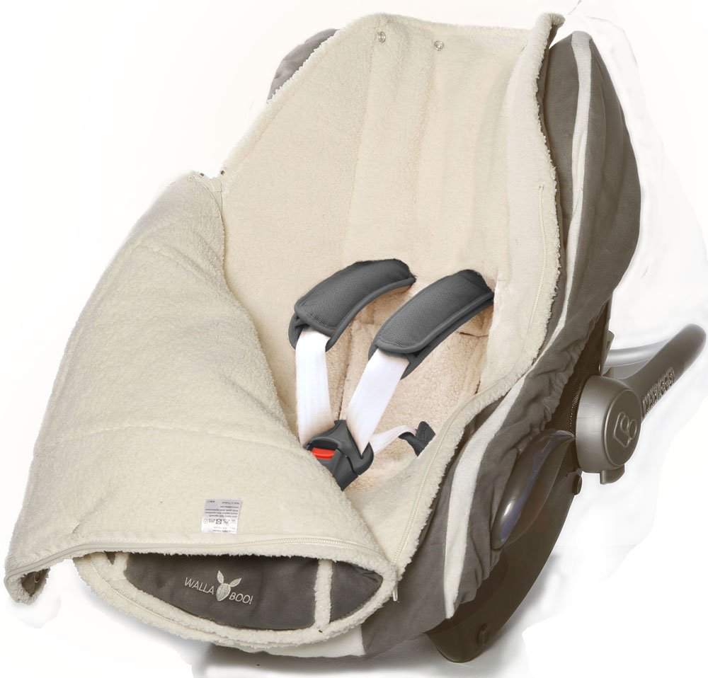 Footmuff Sack Newborn Upto 12 Months for Car Seat Stroller Pushchair 84x50cm Color: Striped Grey Wallaboo Baby Universal Bunting Bag Size: 33 x 20 inch Luxurious su/éde and Soft Faux sheerling