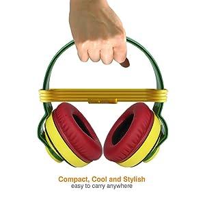 Amkette Trubeats Freespirit Rasta Headset