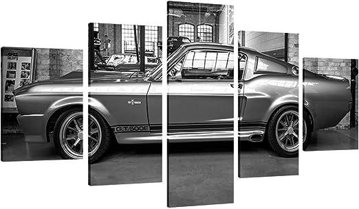1967 Shelby GT500 sports car framed canvas print