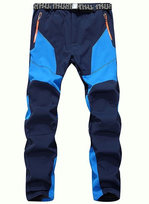 Pantaloni Trekking Invernali Uomo Impermeabili Antivento Abbigliamento  Montagna Pantaloni Sci Uomo Softshell Pantalone da Escursione 76ffe4e25cef