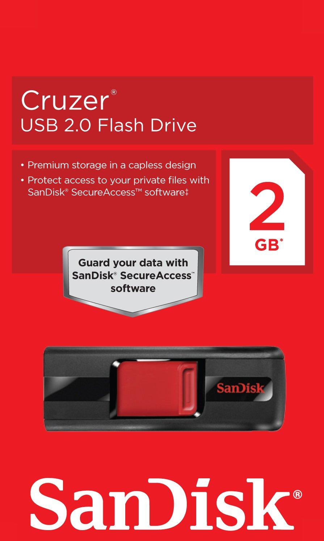 Sandisk Cruzer 2 Gb Usb Flash Drive Sdcz36 002g Black Flashdisk Edge Cz51 Electronics