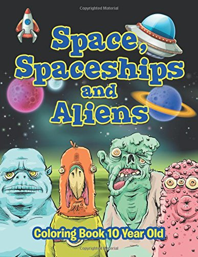 Space Spaceships Aliens Coloring Book