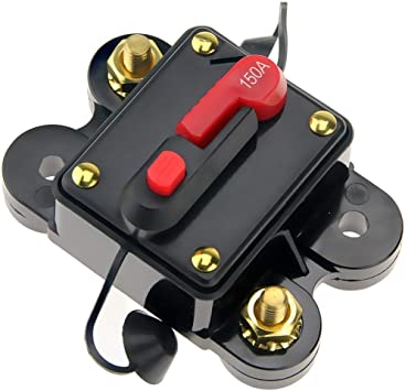 Car Audio 150 Amp Circuit Breaker Manual Reset Fuse Holder Kill Switch