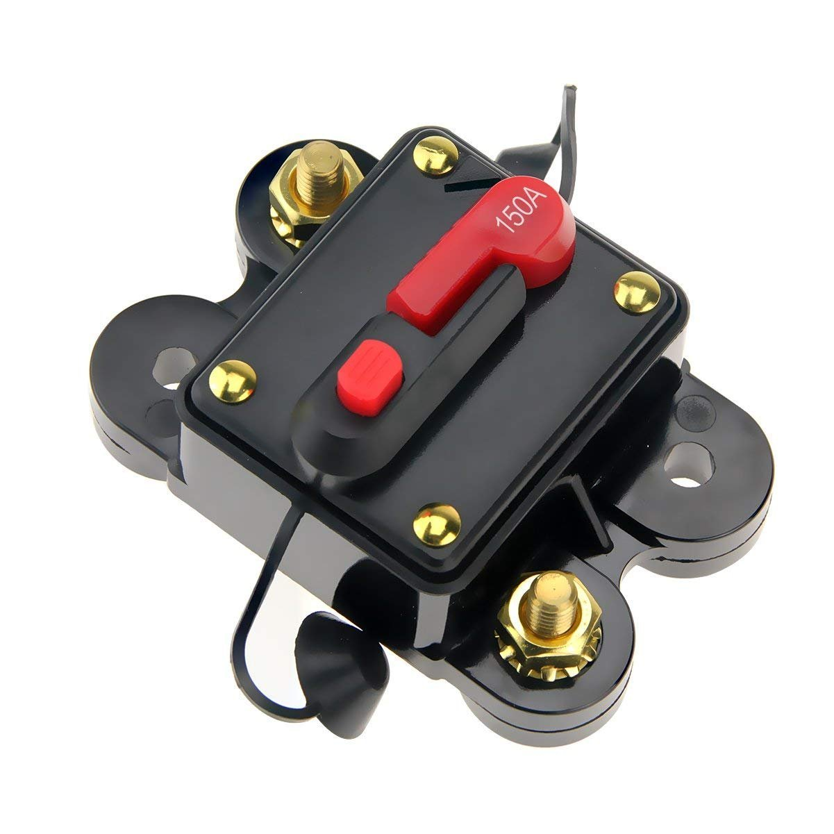 ANJOSHI 100amp Circuit Breaker 50A-300A Manual Reset Home Solar System Fuse Holder Car Audio Amps Protection 12V-24V DC Reset Fuse Inverter Replace Fuses