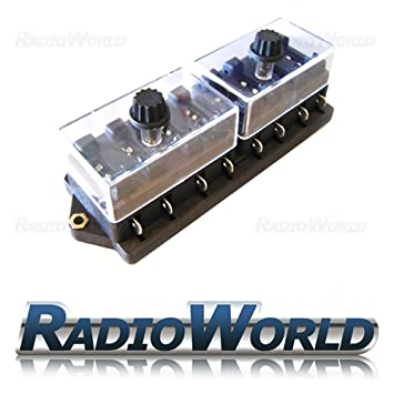 8 Way Circuit Standard Holder Universal With Cover Mini Blade Fuse Box