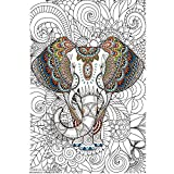 Great2bColorful Original Big Coloring Poster (24''x 36'') African Elephant