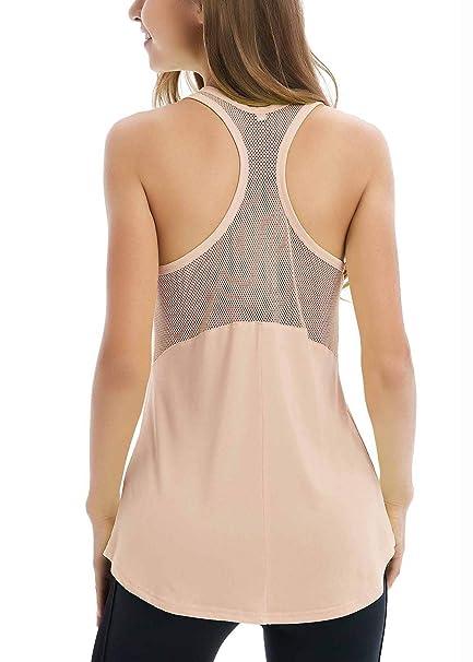 Amazon.com: Fihapyli - Camiseta sin mangas transpirable para ...