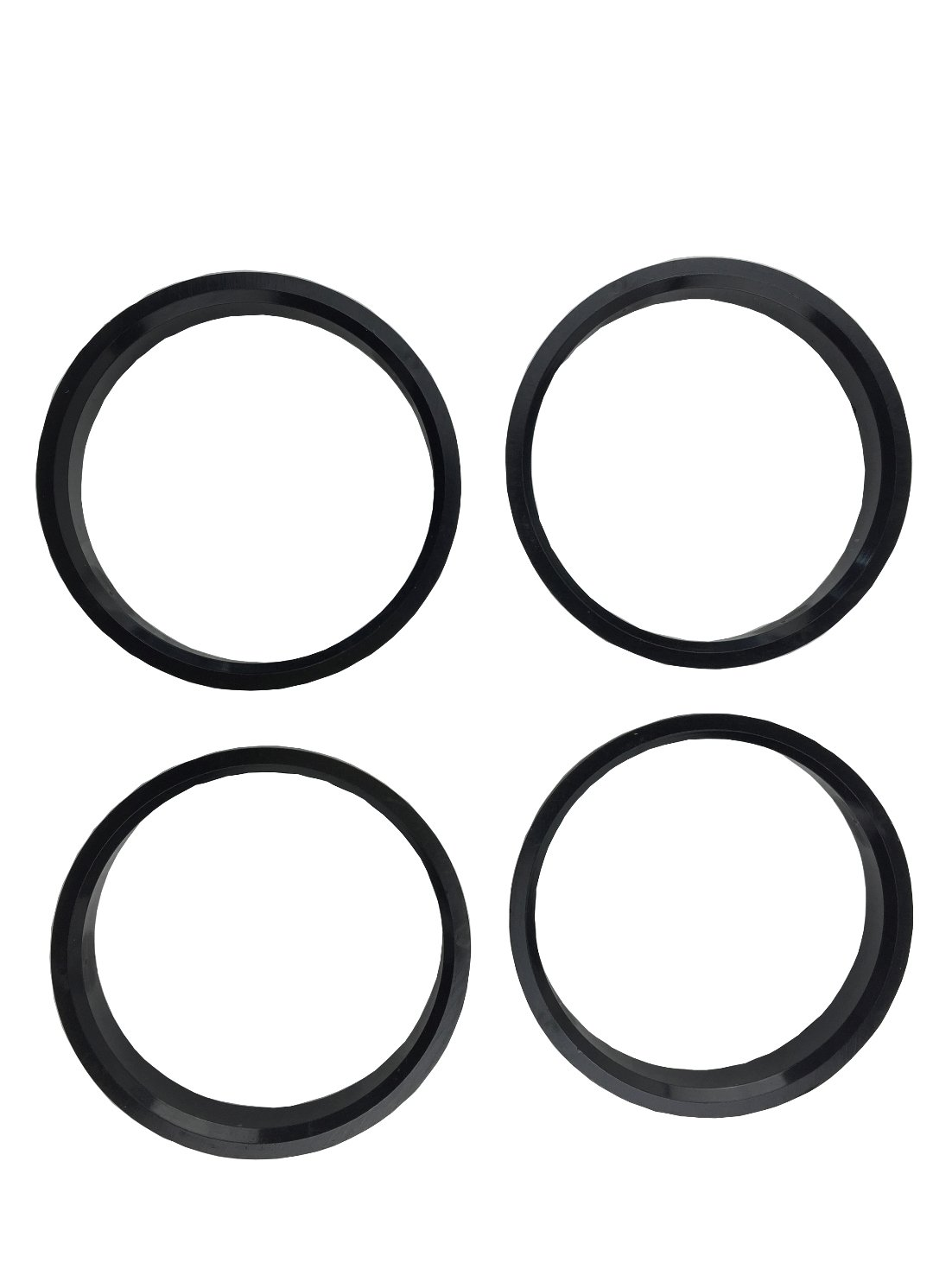 4 Pieces - Hub Centric Rings - 74.1mm OD to 67.1 mm ID - Black Poly Carbon Hub Rings JianDa