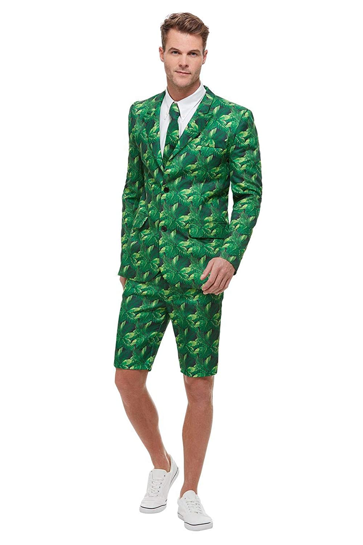 para hombre Traje de palmera tropical color verde Smiffys 51038L