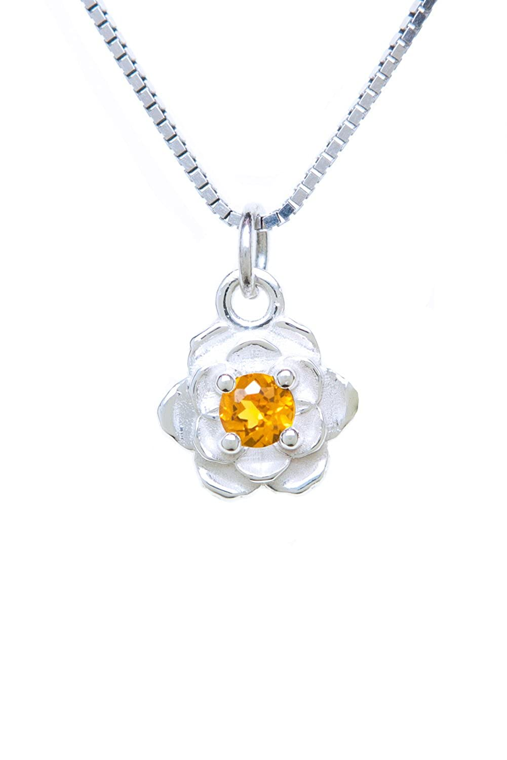 Sterling Silver Pendant Charm Rose
