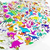Sticker for Kids, Assorted 36 Sheets(750+ Pieces) of 3D Realistic and Cartoon Style Removable Puffy Stickers Decals with Alphabet, Figure, Santa Claus, Bus, Sports Car, Motorcycle, Dinosaur, Cat, Dog
