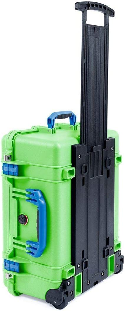 Lime Green /& Blue Pelican 1510 With Pick /& Pluck Foam /& Computer lid pouch.
