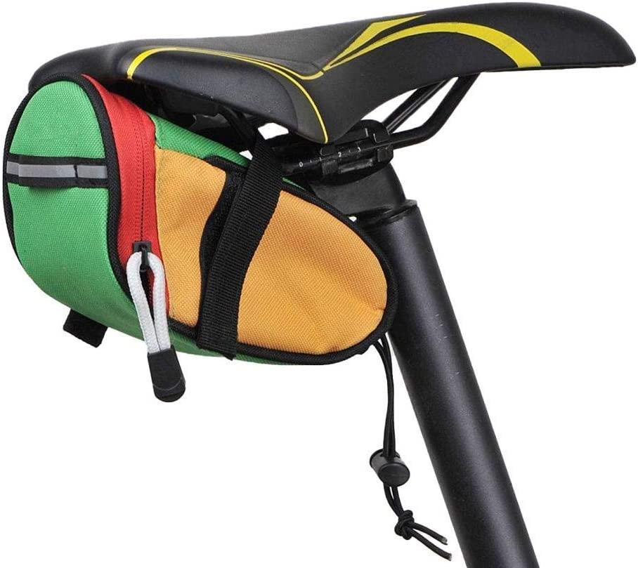 Sillín de bicicleta bolsa, bolsa de asiento inferior, cola bolsa de sillín de bicicleta trasera correa del bolso de la silla de montar bolsa de almacenamiento, Profesional de accesorios de la biciclet