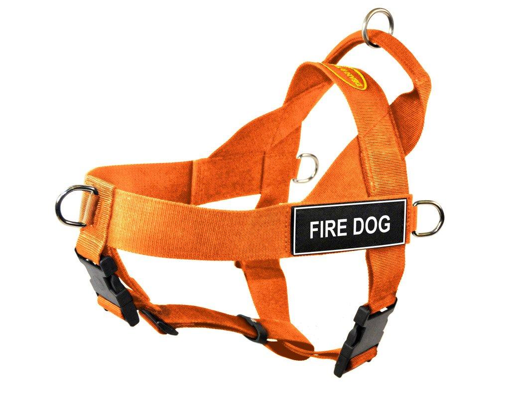 orange Medium orange Medium Dean & Tyler DT Universal No Pull Dog Harness with Fire Dog Patches, orange, Medium