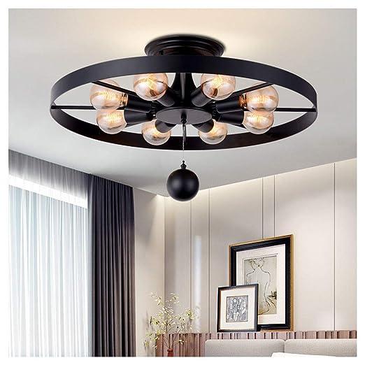 DUOMING Lámparas de Techo Lámparas de Techo de Metal 65 cm (25.5 ...