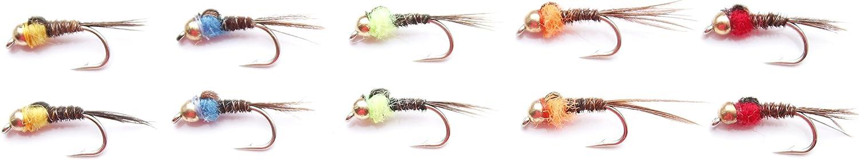 Lakeland Fishing Supplies Set M2 10x oder 25x Hot Spot Fasan Schwanz Nymphen Fliegen Fliegen Forellenfischen