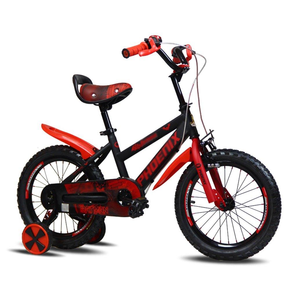 LVZAIXI キッズバイク、サイズ12インチ、14インチ、16インチ、レッド、ブルー、ゴールド 16 inch 赤 B07D58CFC3