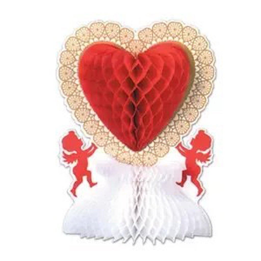 50 Valentine's Day Centerpiece Heart With Cupid 11''