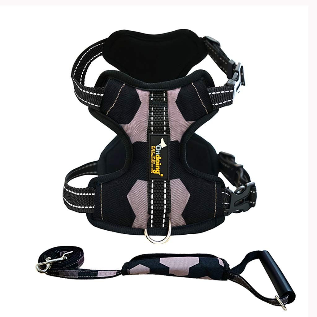 B Large B Large Pet dog leash large and medium dog chest strap dog strap vest harness explosion-proof rushing dog chain with traction rope L
