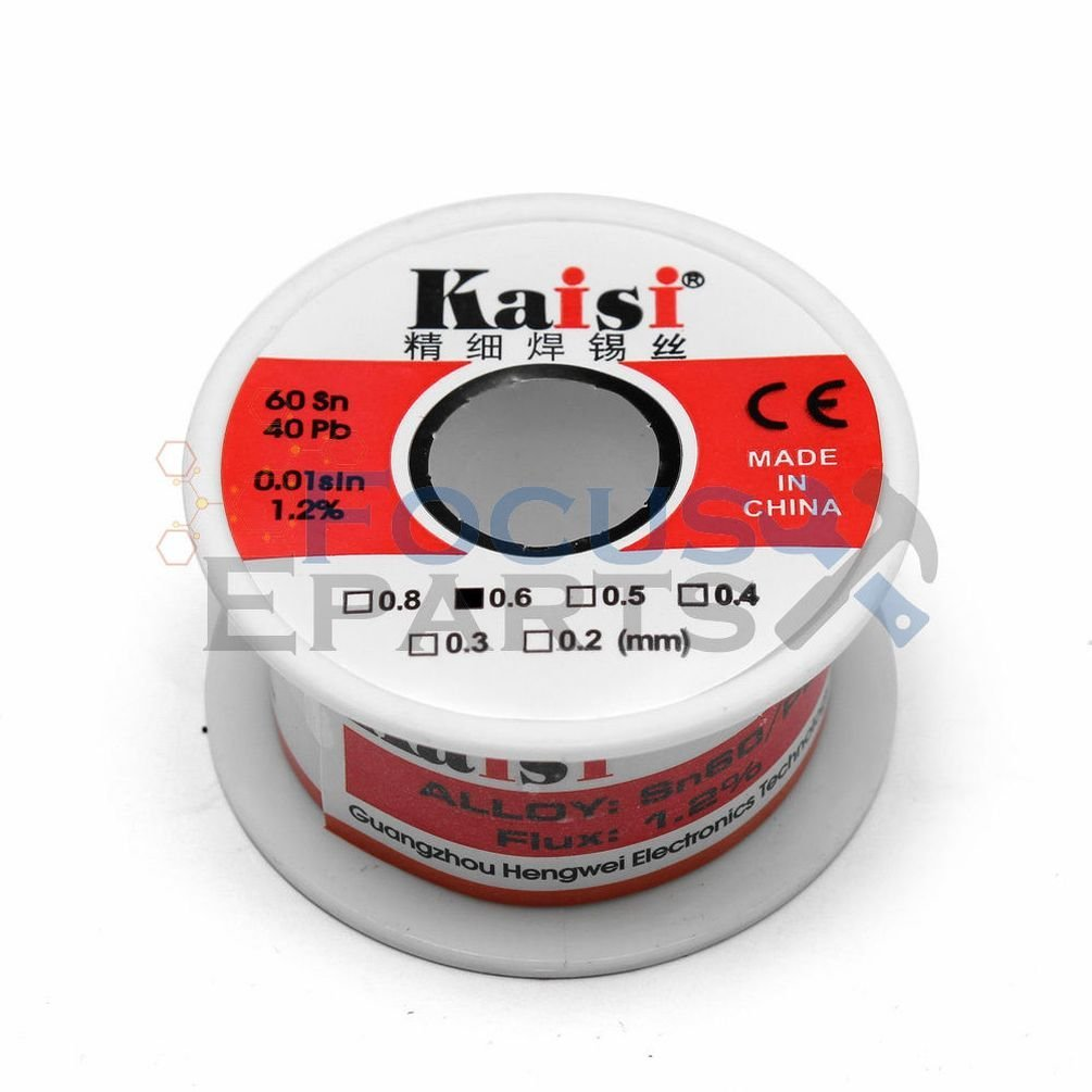 0.6mm 50G 60//40 Rosin Core Flux 1.2/% Tin Lead Roll Soldering Solder Wire