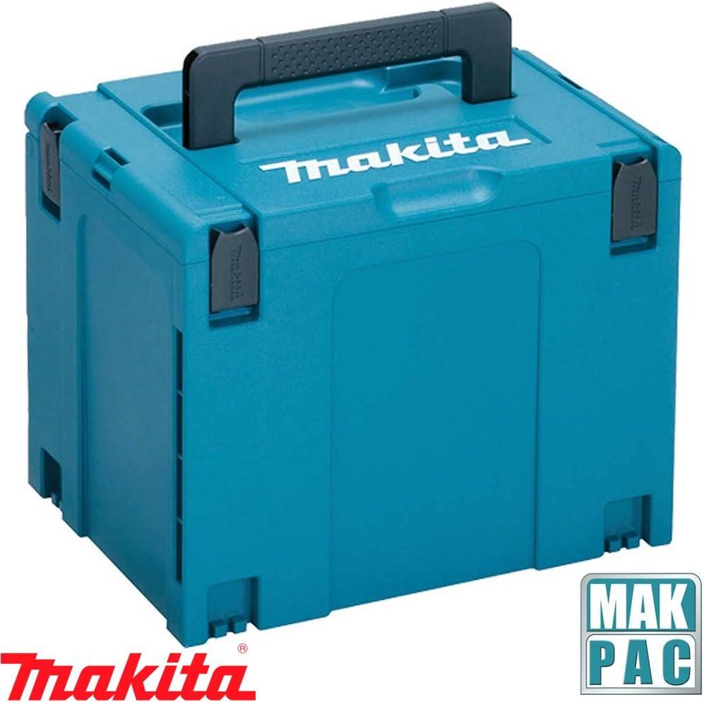 Makita 821552-6 MakPac - Caja de conectores apilables tipo 4 para Makita DHR243Z, DSS611Z, DJV180Z, DGA454Z, DGA506Z, DHP481ZZ (396 mm x 296 mm x 315 mm): Amazon.es: Bricolaje y herramientas